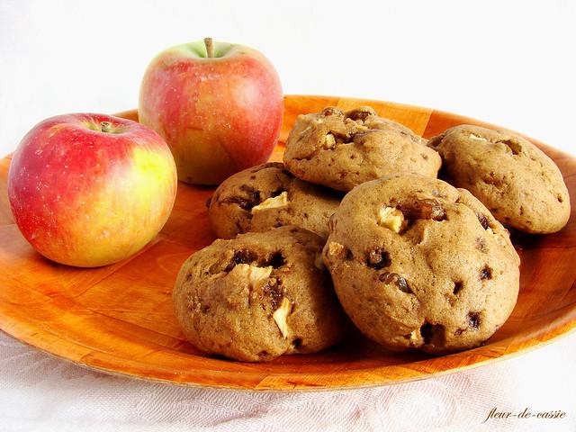 печенье яблочное с изюмом 1