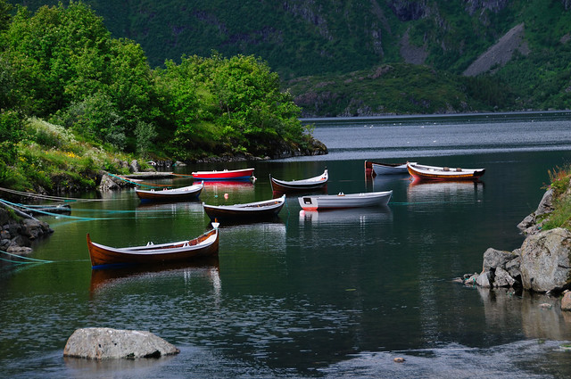 Little Boats on the Fjord