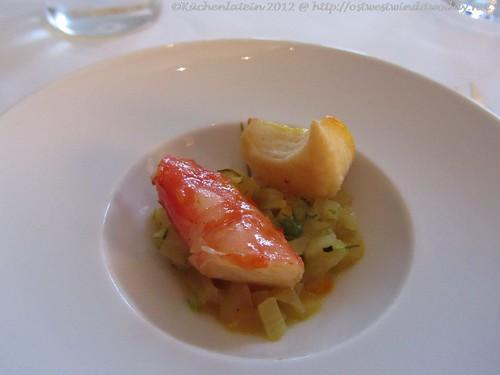 ©Vincent Klink Wielandshöhe Orangen-Fenchelsalat mit Shrimp und Fleuron