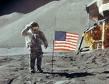 Neil Armstrong Next to Flag (page 5) - Pics about space