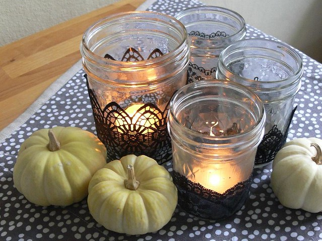 Jenny: Black Lace Votives from Artful Halloween