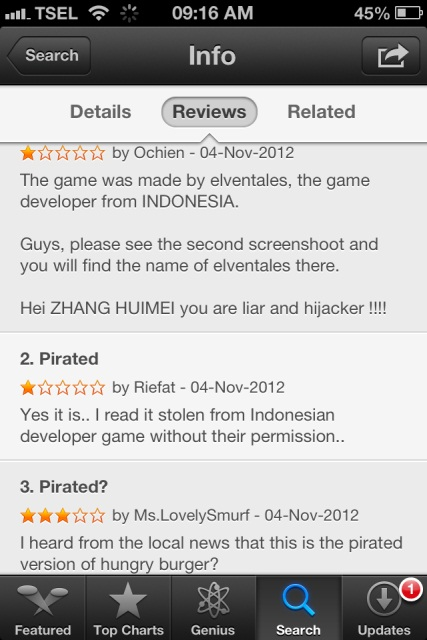 Review game Hungry Chase di App Store