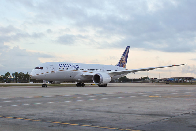 The United 787 Ready to Taxi