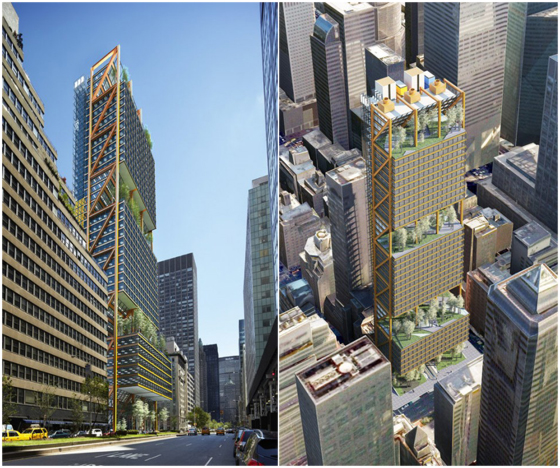 Finalist Design for 425 Park Avenue by Rogers Stirk Harbour Partners. Image via Architizer