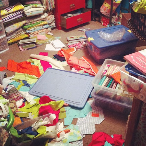 Craft Room Messiness by Jeni Baker