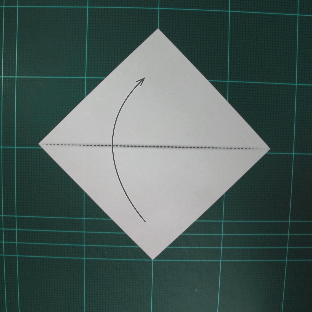 วิธีพับกระดาษเป็นรูปจั้กจั่น (Origami Cicada) 001