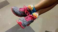 Shoe modeling at Olney Swim Center, March 5, 2014