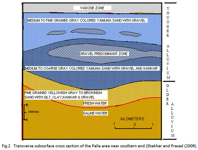 Transverse subsurface cross section of the Palla area near southern end (Shekhar and Prasad (2009)