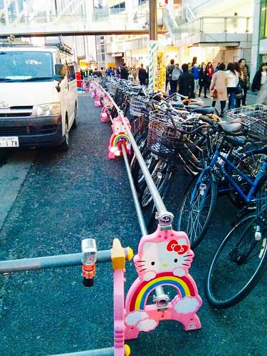 Sinalizador de construção kawaii - Hello Kitty em Tóquio