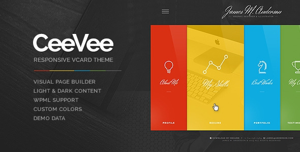 CeeVee v1.0.10 - Responsive CV Resume WordPress Theme