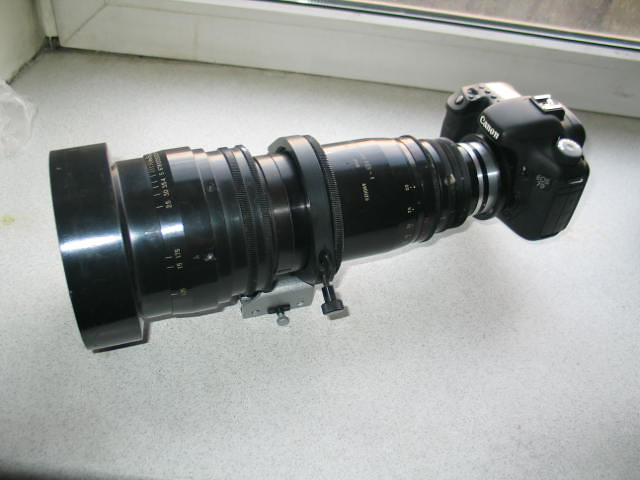 Anamorphic Zoom 35OPF18 - 1 A  with Canon 7D