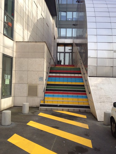 Coloured steps in Paris