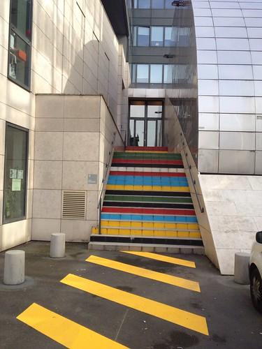 Coloured steps in Paris