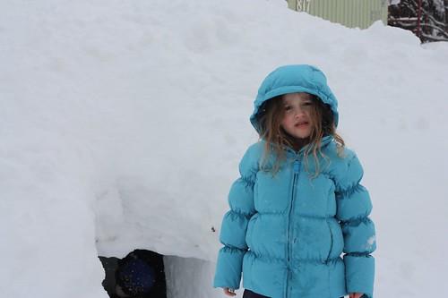 Snow cave entrance