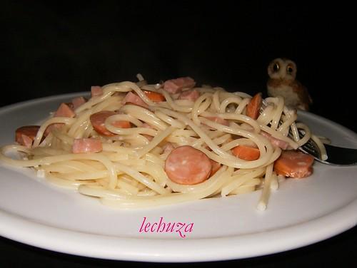 Espaguetti carbonara-plato