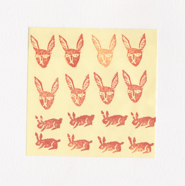 rabbit rubber stamps