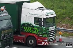 Scania R440 6x4 Tractor - PE11 AZD - Shelbi Evangaline - Green & Red - 2011 - Eddie Stobart - M1 J10 Luton - Steven Gray - IMG_4534