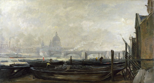 Charles-François Daubigny - St Paul's from the Surrey Side [1871-73] by Gandalf's Gallery