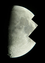 Part of the waxing gibbous moon