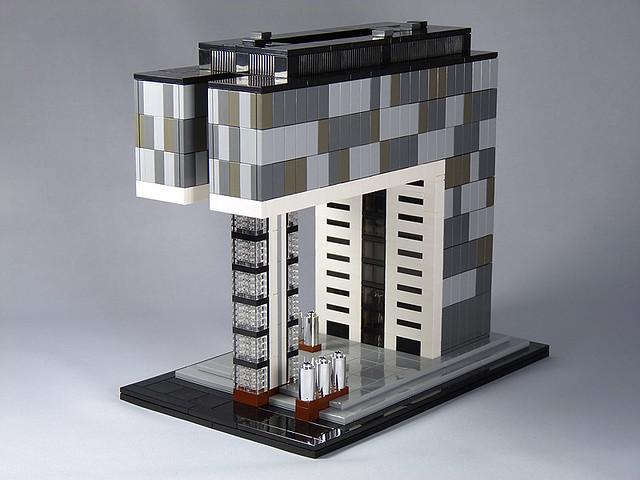 lego architecture moc kranhaus s d 01 cologne flickr. Black Bedroom Furniture Sets. Home Design Ideas
