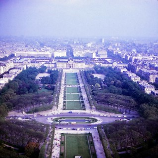 France  -  Paris  -   Ecole Militaire from the Eiffle Tower  -  May 1970