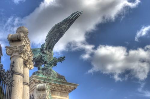 Budapest - Turul Eagle Statue - HDR