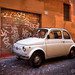 <p>A typical scene in Rome... these old Fiats are everywhere!</p>