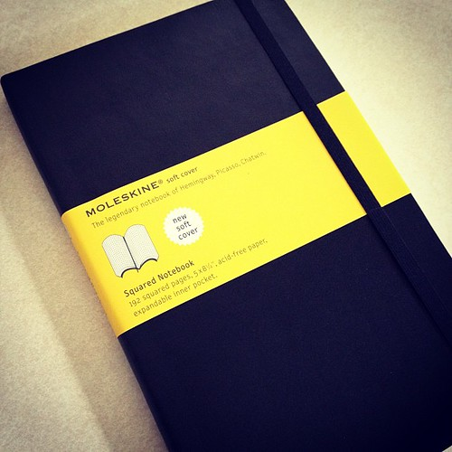 Love new Moleskins! This one is going to become a five (or longer)-year, one-sentence journal. Basing it on the Happiness Project.