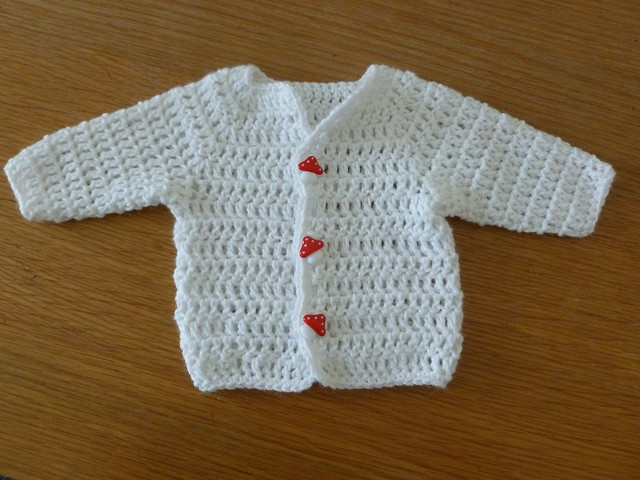 Free Crochet Patterns For Baby Boy Beanies : Newborn crochet cardigan Flickr - Photo Sharing!