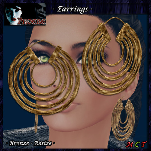 *P* Aysha Earrings ~Bronze~