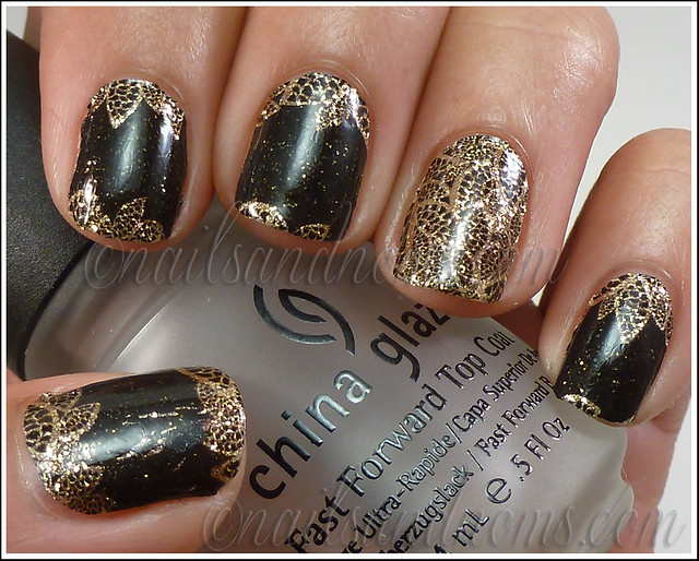 OPI Pure Lacquer Nail Apps - Gold Lace 8