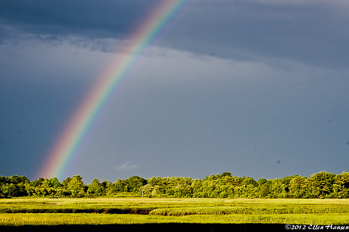 Rainbow over the salt marsh in New Hampshire by Genny164