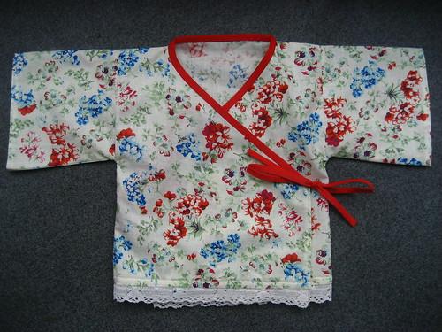 Baby McCarthy's floral lace kimono