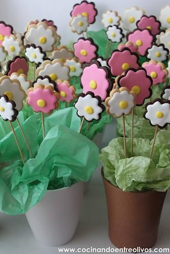 Macetas de flores de galleta