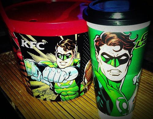 KFC Justice League Green Lantern Tumbler