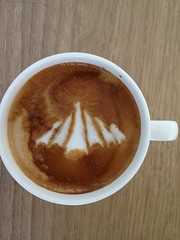 Today's latte, Google Big Tent.
