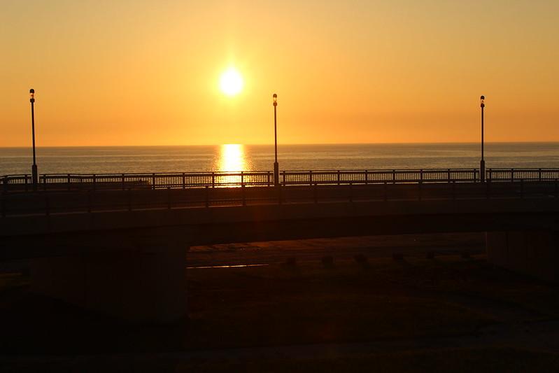 黄金岬近くからの夕日 その2