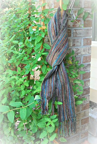 Linen stitch man scarf - good length