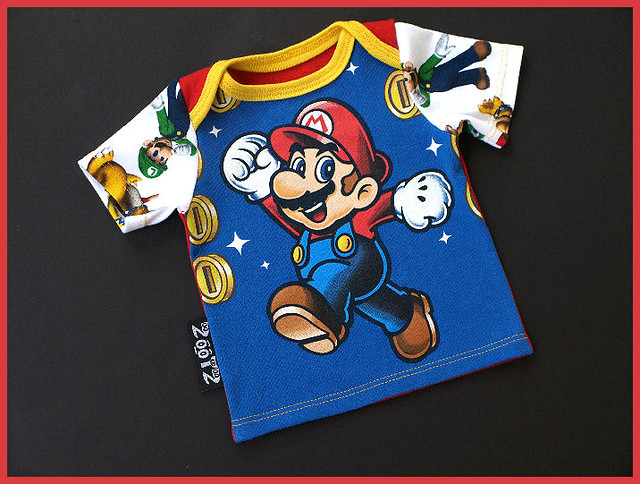Mario Time Upcycle Lap Tee Nb to 3 Months