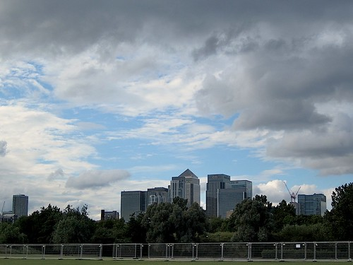 Canary Wharf from Millwall Park