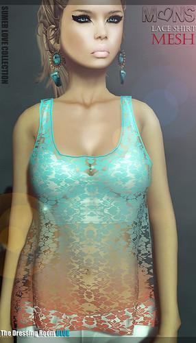 MONS [S.L.C.] Lace Shirt (mesh)TDRblue by Ekilem Melodie - MONS