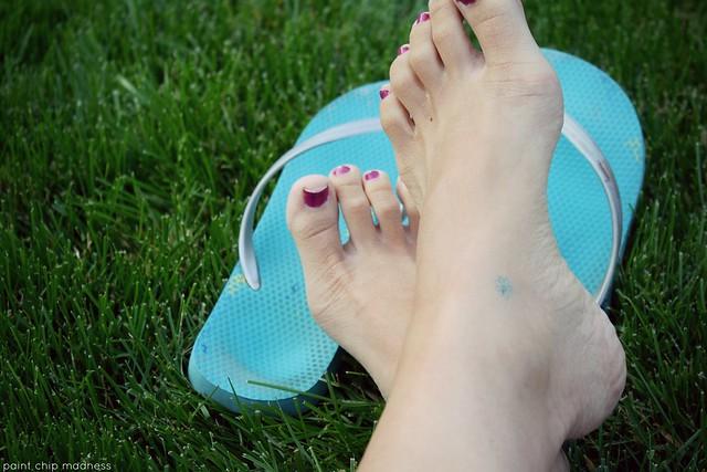 flip flop tan