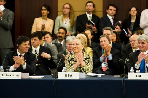 Clinton külügyminiszter a tokiói Afganisztán-konferencián  (Külügyminisztériumi fotó)