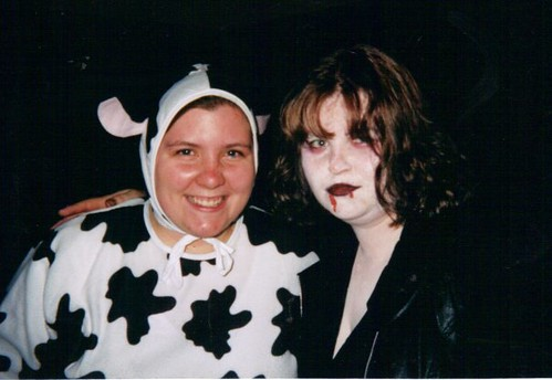 BobbieJo and Me at the Monster Mash Party