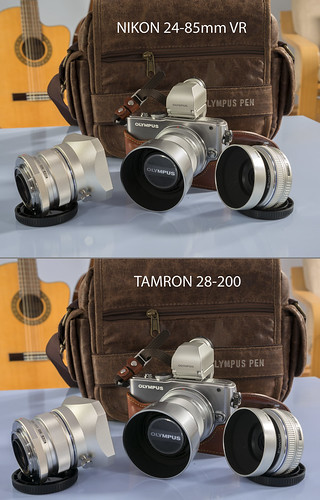 Olympus E-PL3 12mm, 45mm, 17mm lenses photographed with a Nikon D800E and Tamron 28-200mm / Nikon 24-85mm