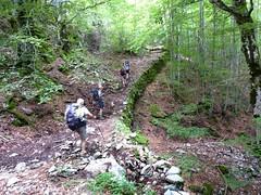 La troupe sur un sentier historique vers Focicchia durant la 2ème étape