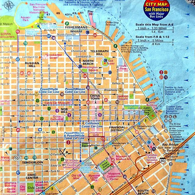 je vous ai mis le plan du centre ville de san francisco