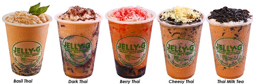 Jelly G Thai Milk Tea drinks