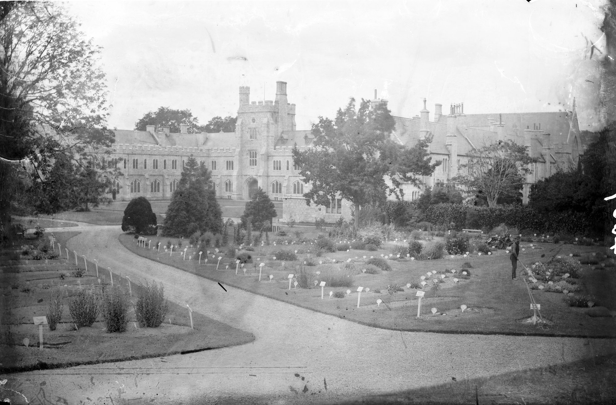 Old photo of Queen's College Cork, Ireland