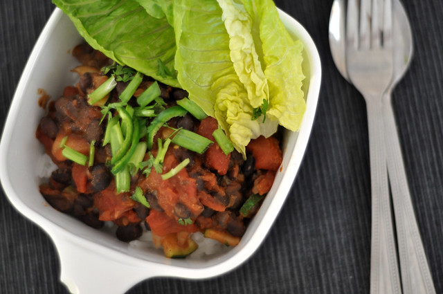 black beans on rice